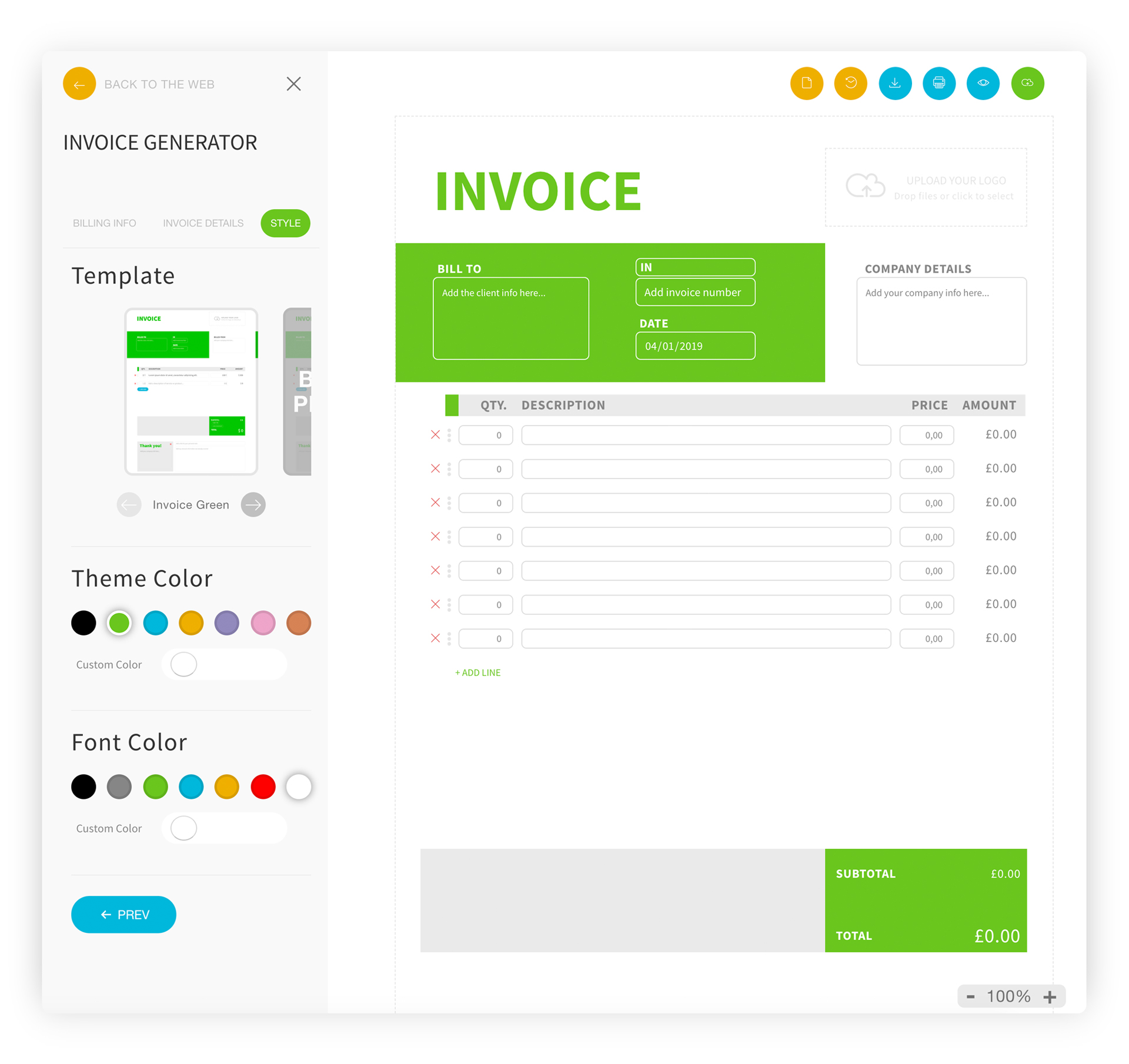 Invoice Generator App